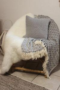 Lammfell, Decke und Kissen