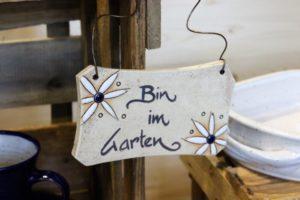 Keramik-Schild