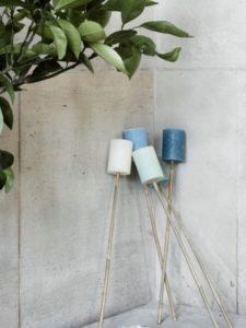 Outdoorkerzen mit Bambusstab